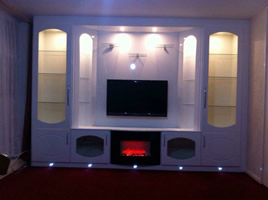 Fitted TV Cabinet - Living Room
